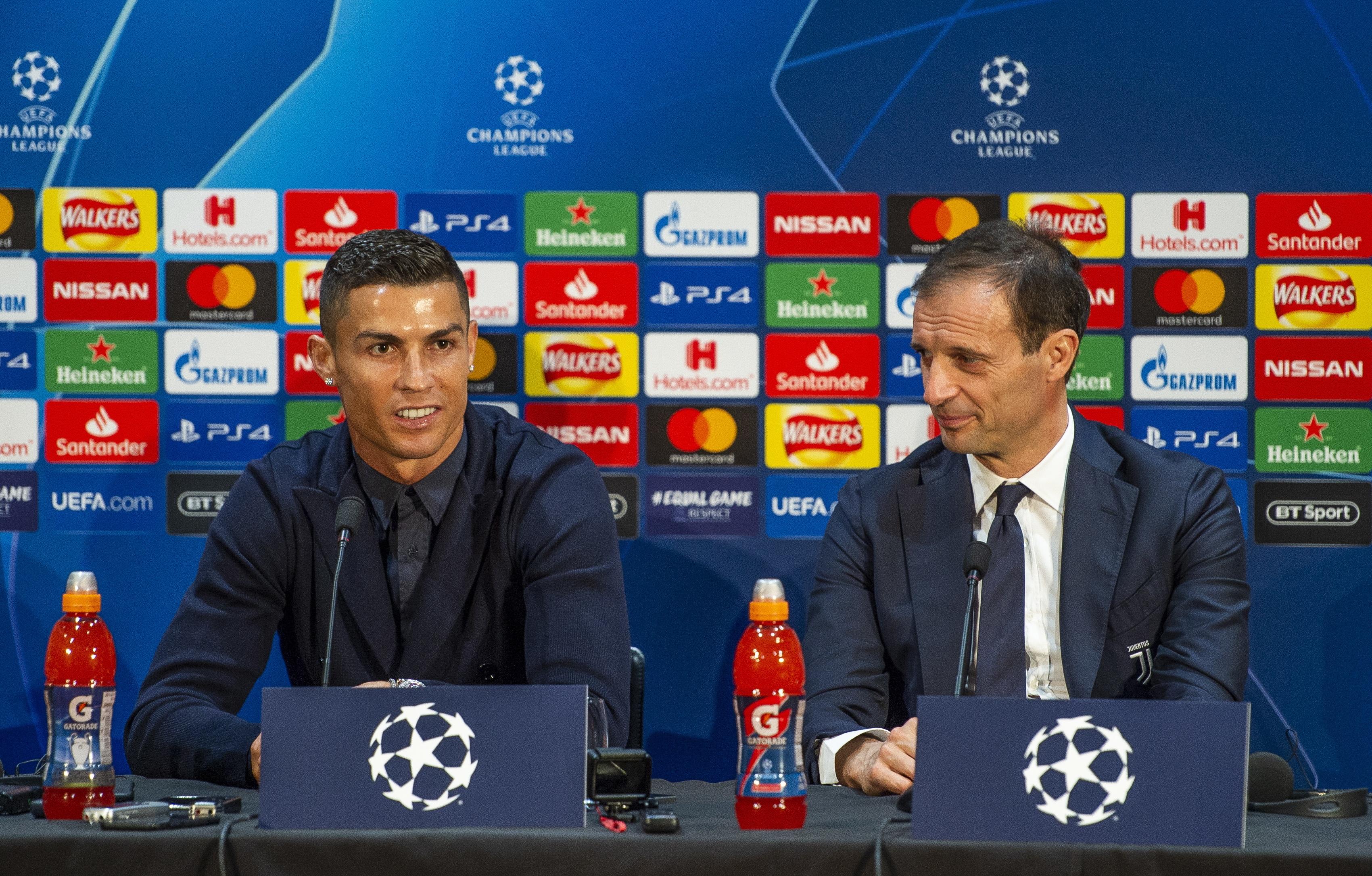 """Allegri sobre Cristiano Ronaldo: """"Falei com ele e disse-lhe que vai ficar de fora num dos três jogos"""""""