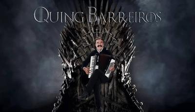"""""""Quing Barreiros, há 46 temporadas a conquistar o terreno das vizinhas"""": cantor partilha montagem inspirada em """"A Guerra dos Tronos"""""""