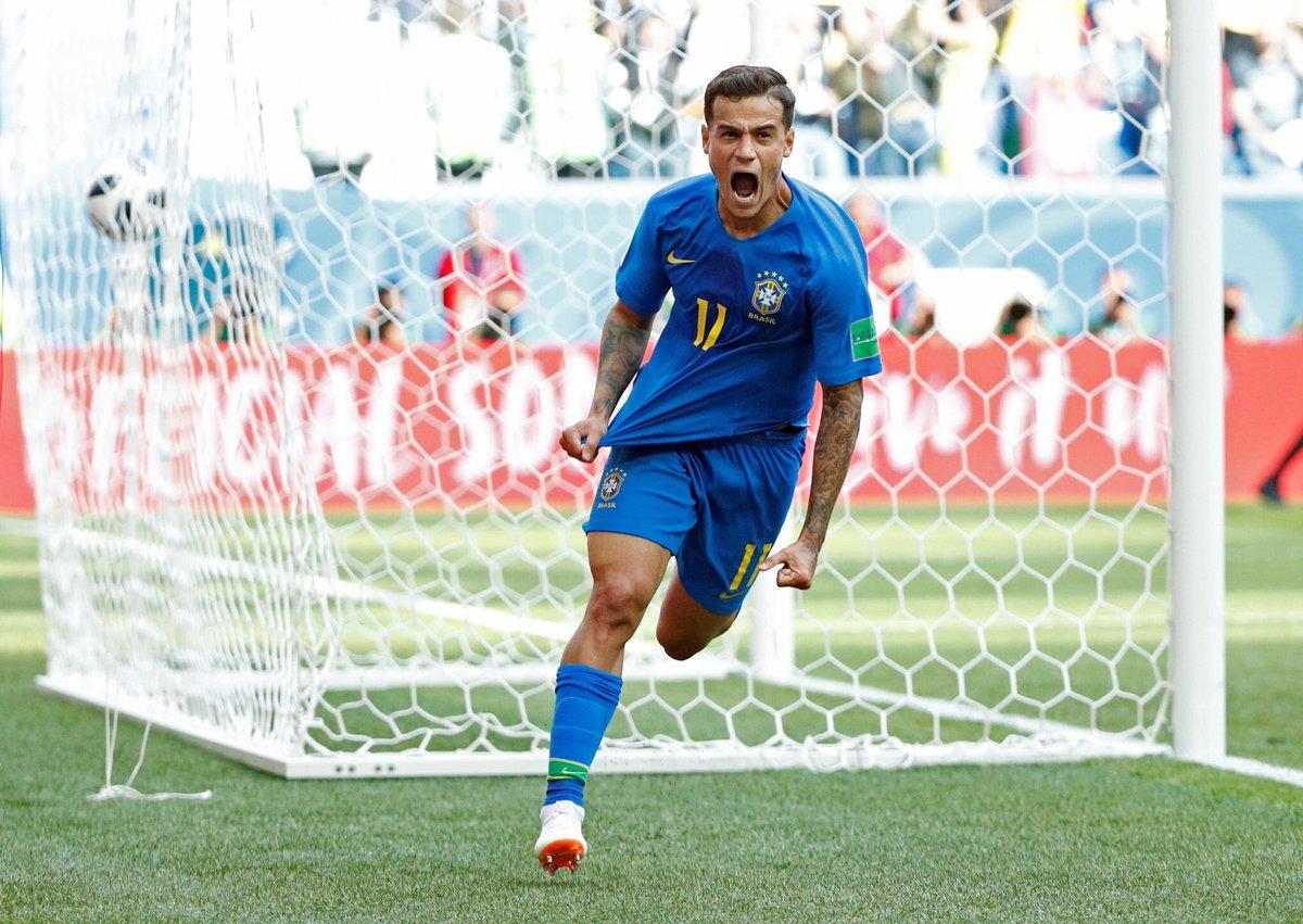 Os números do Brasil-Costa Rica: Coutinho foi o MVP de um jogo que só deu Brasil