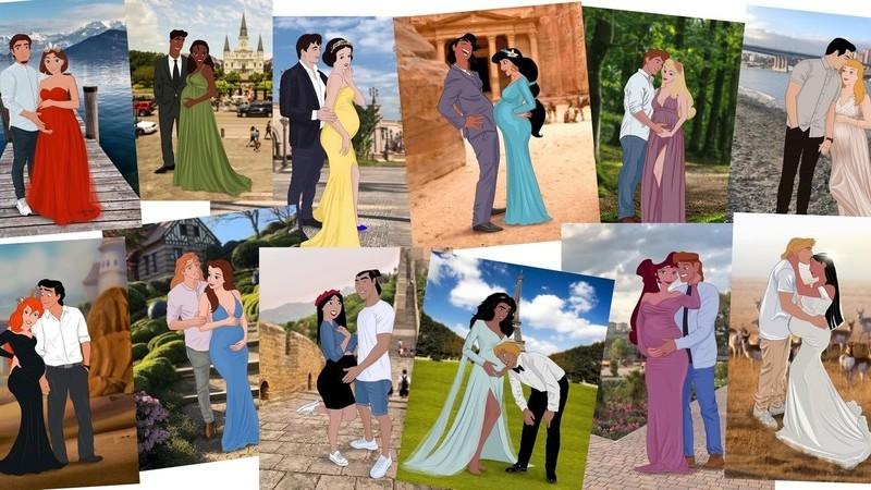 Artista russa recria as princesas da Disney como mulheres grávidas dos tempos modernos