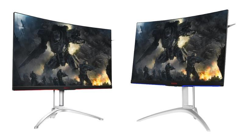 AOC apresenta novos monitores gaming curvos e sem moldura