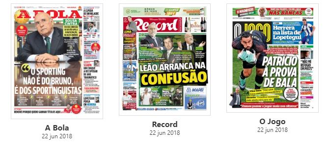 Revista de imprensa: Confusão no Sporting no arranque da pré-época