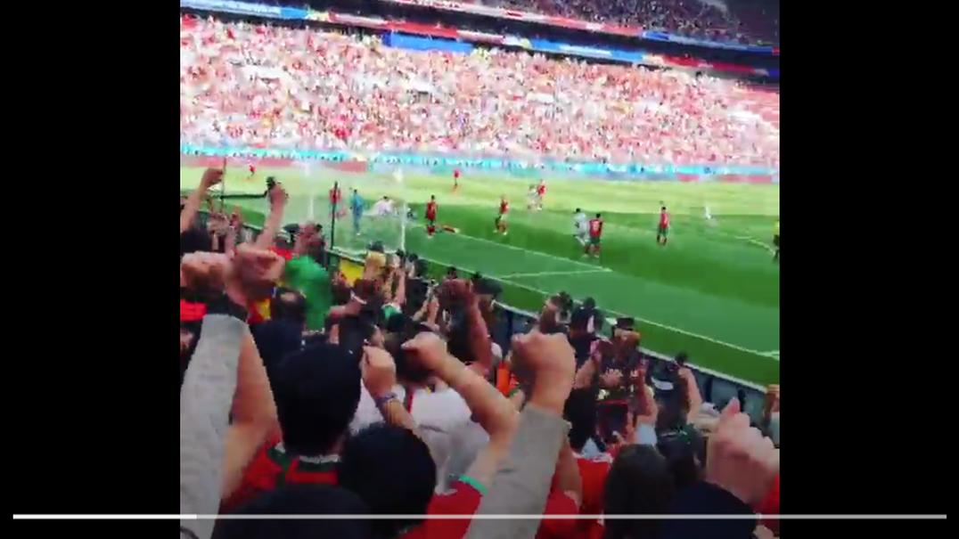 O golo de CR7 visto por quem estava nas bancadas do estádio