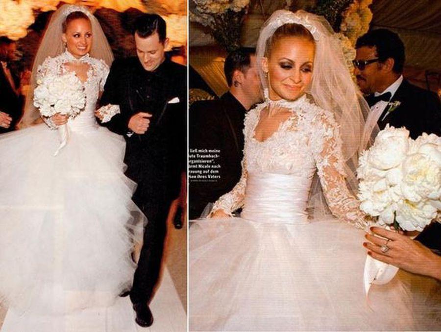 Vestido de noiva de Nicole Richie
