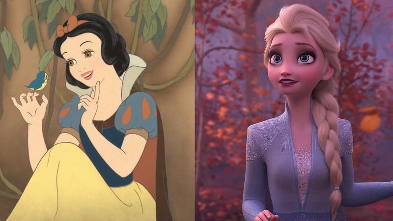 De Branca de Neve a Elsa: a evolução das princesas Disney