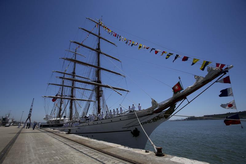 Navio Sagres faz viagem de circum-navegação com Tóquio2020 no horizonte