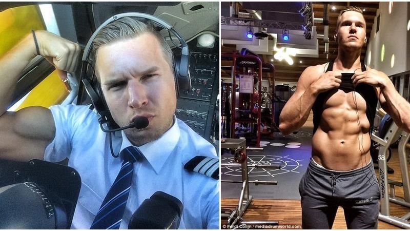 Piloto holandês, viciado em ginásio, é sensação na internet devido a fotografias ousadas