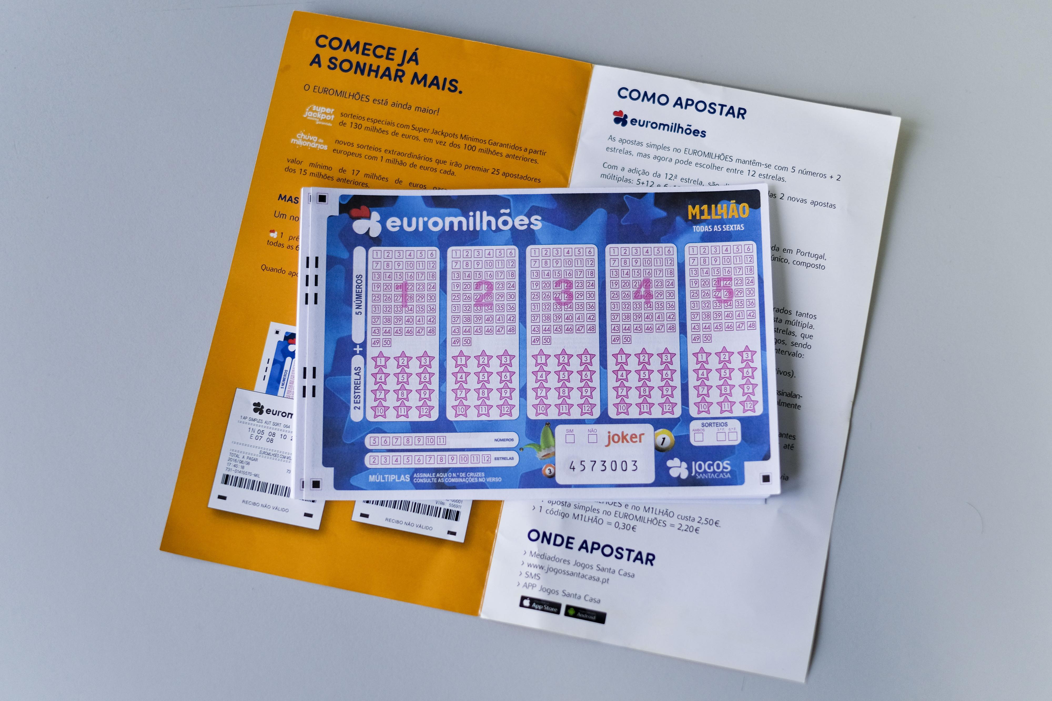 Euromilhões: Jackpot de 160 milhões de euros no próximo sorteio