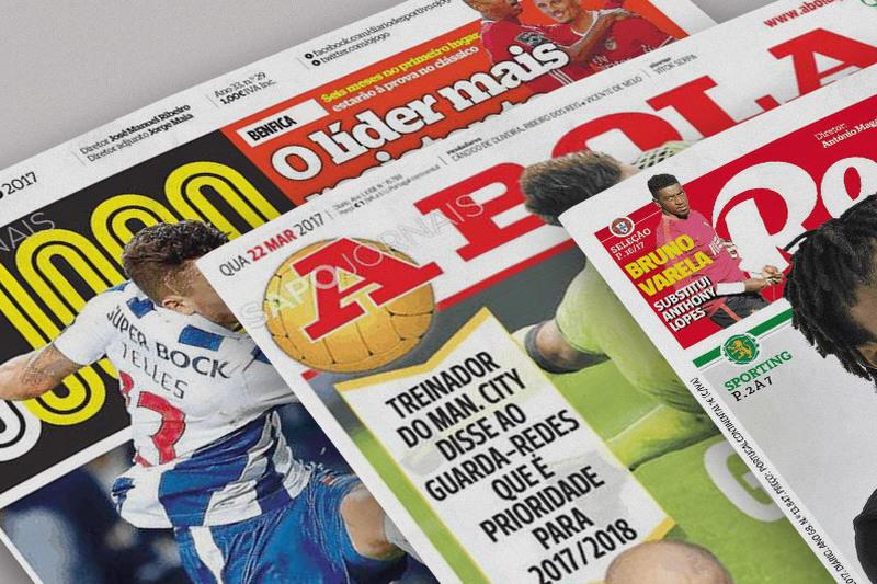 Manchetes dispersam-se entre Portugal e os clubes