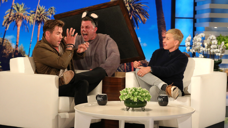 "Ellen DeGeneres assusta Chris Hemsworth com ""rato gigante"""