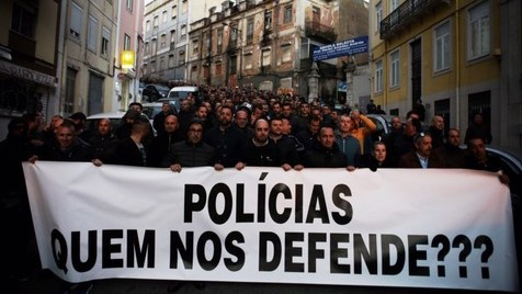 A manifestação das Forças de Segurança