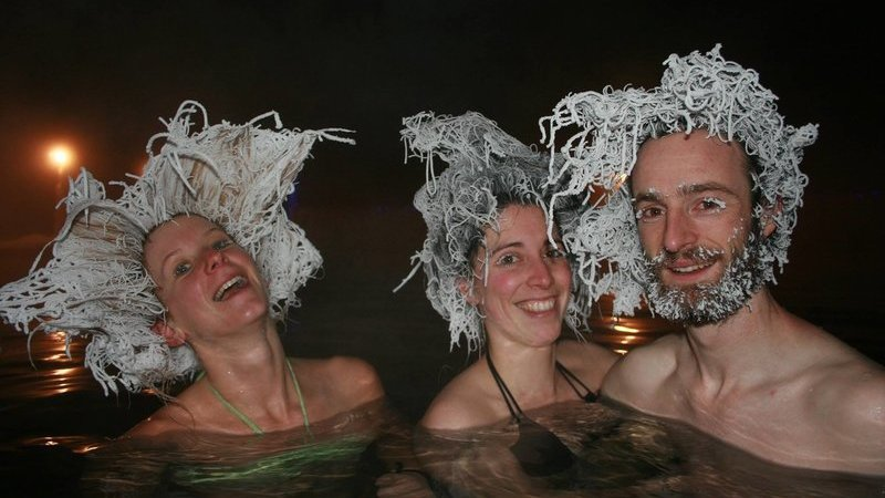 Canadá tem uma competição de cabelos congelados a -22 graus