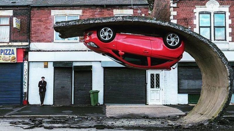 Surrealismo Urbano: 10 obras de Alex Chinneck que rompem com os conceitos clássicos de urbanismo