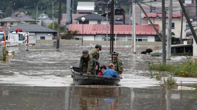 Novo balanço: Pelo menos 42 mortos no Japão na sequência do tufão Hagibis