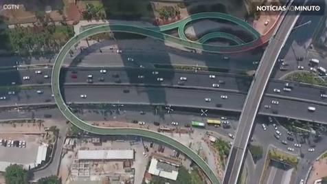 A maior via aérea de ciclismo do mundo está aberta