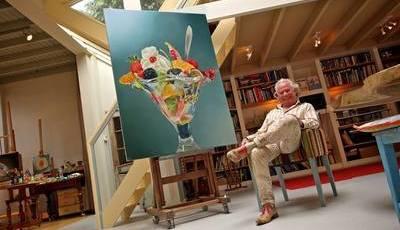 A pintura hiper-realista de alimentos, a obsessão na vida de um Holandês