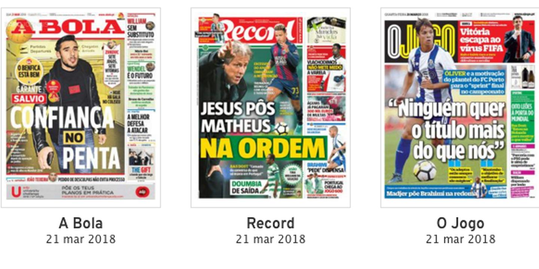 Revista de imprensa: Jesus disciplinador entre a ambição do 'Penta' de Salvio e a motivação de Oliver