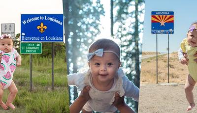 Bebé de 5 meses pode tornar-se a pessoa mais jovem a visitar os 50 estados dos EUA