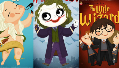 Como seriam Khaleesi ou Joker se fossem protagonistas de livros infantis?