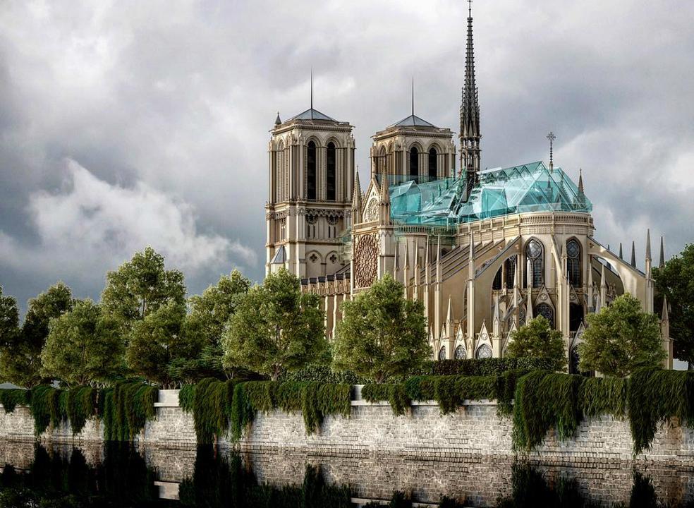Catedral de Notre-Dame: já há propostas para o novo telhado em discussão nas redes sociais