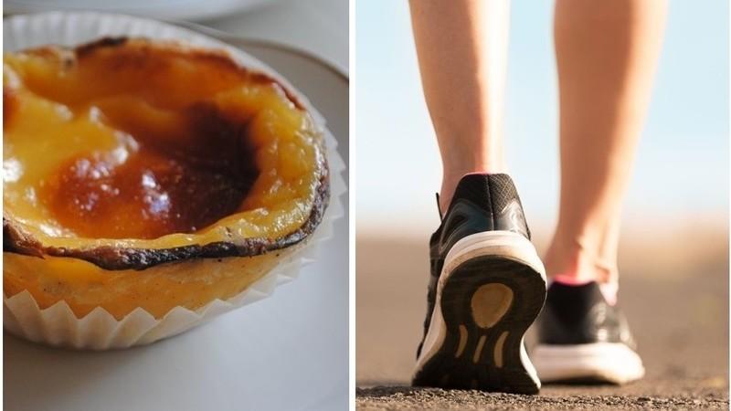 """Comeu um pastel de nata? Vai ter de caminhar 50 minutos para o """"queimar"""""""