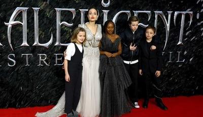 Angelina Jolie leva filhos a mais uma estreia do seu novo filme