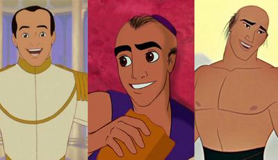 Como seriam os príncipes da Disney se fossem carecas?