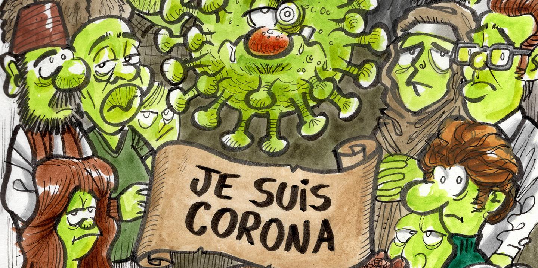 Cartoons durante a quarentena: Covid-19, Trump, futebol e companhia