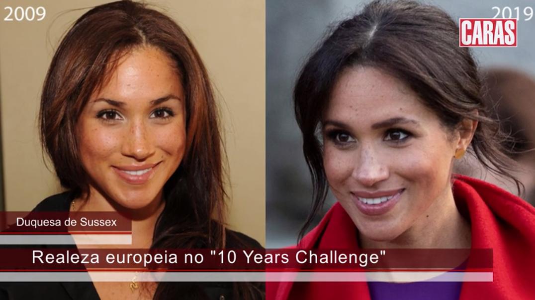 """O """"10 years Challenge"""" da realeza"""