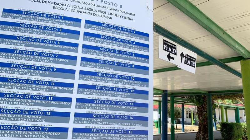 Nomes completos afixados à porta dos locais de voto, dúvidas e alguma confusão