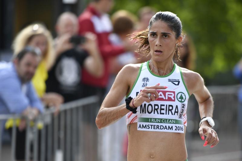 Sara Moreira entre os participantes do Troféu Ibérico de 10.000 metros
