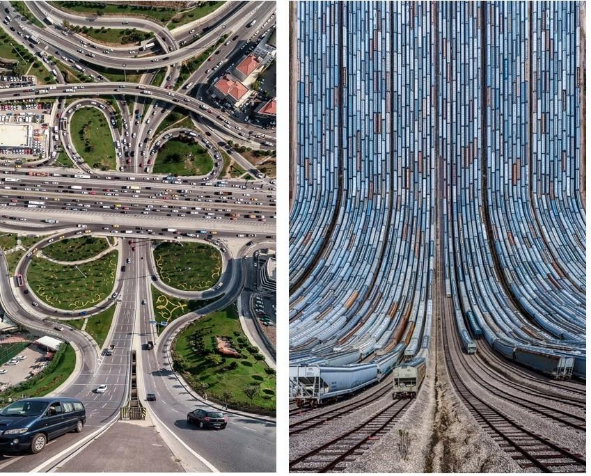 Um mundo de pernas para o ar nas fotografias do Turco Aydin