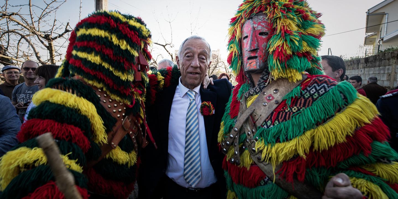 Presidente da República realçou o que Portugal tem de melhor entre os Caretos de Podence