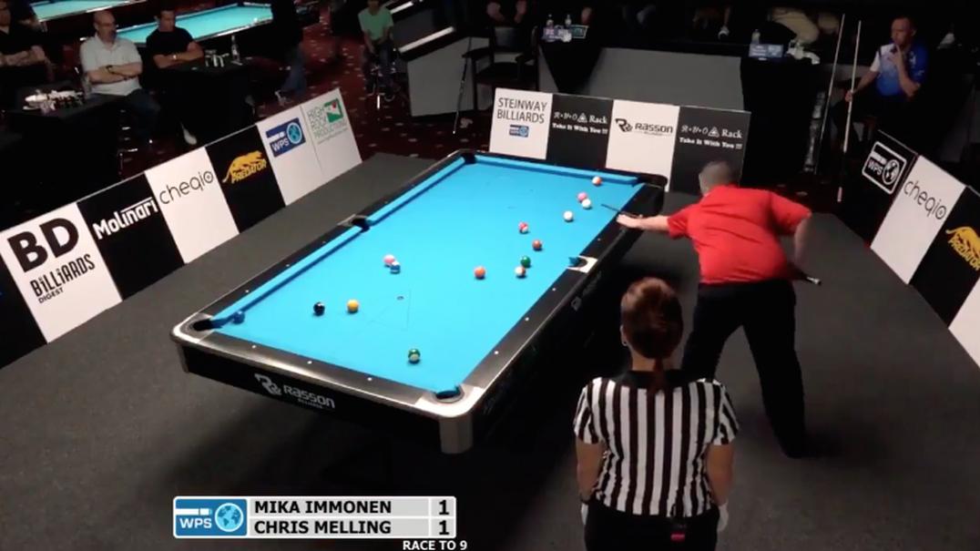 Três bolas absolutamente insanos de Chris Melling durante uma partida de snooker
