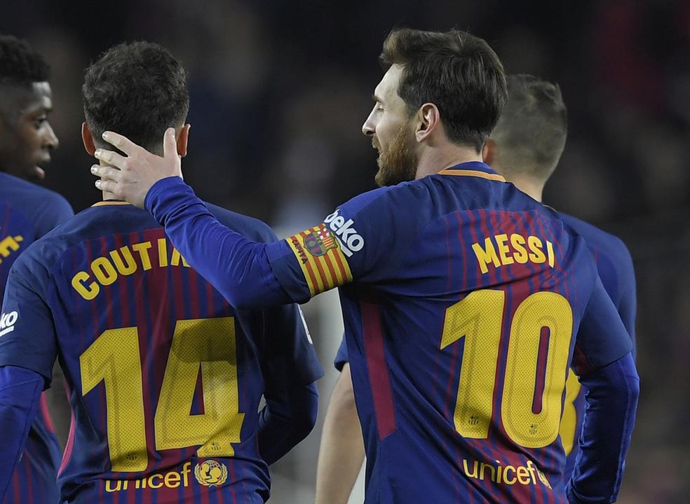 Barcelona esmaga Girona, com um hat-trick de Suarez, um bis de Messi e um golaço de Coutinho