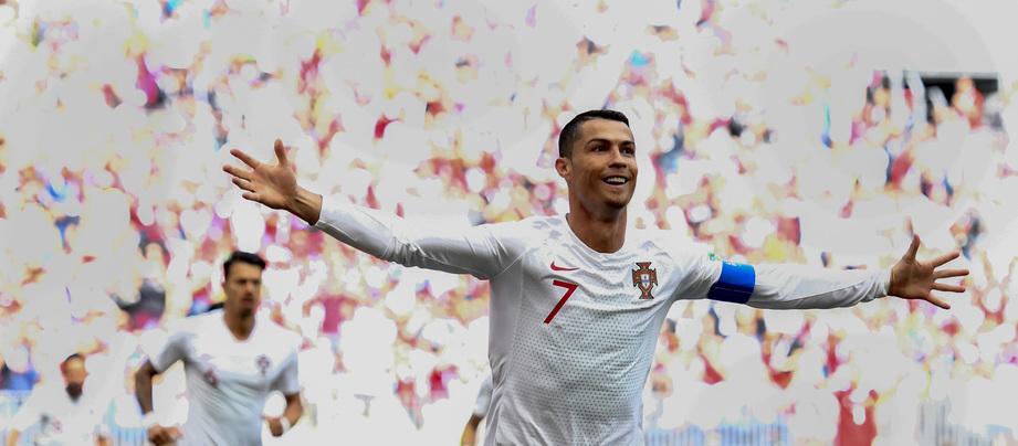 Veja o golo de Cristiano Ronaldo em animação 3D