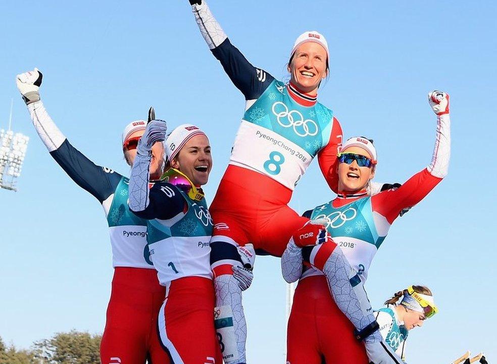 Noruega é 'campeão' dos Jogos Olímpicos de Inverno com recorde de medalhas