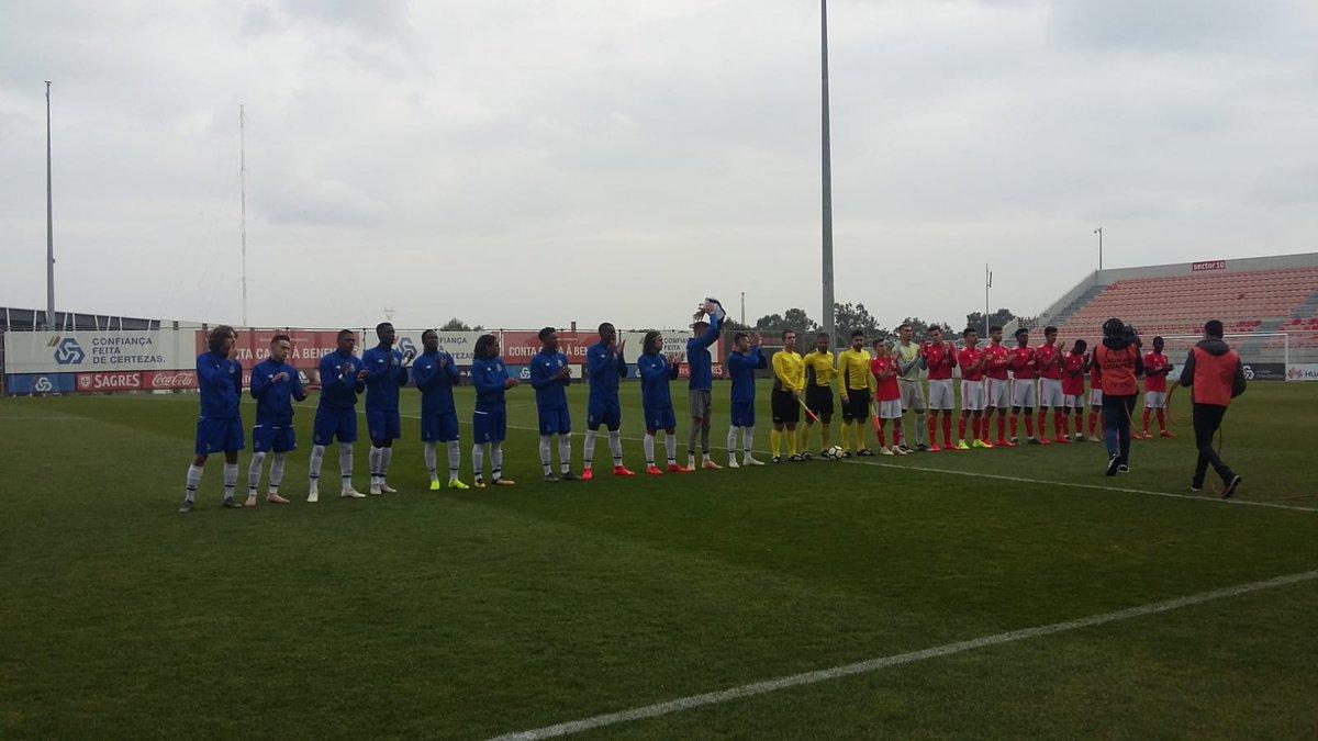 Dois penaltisajudam Benfica a empatar com FC Porto no Seixal no arranque da 2.ª fase do nacional de juniores