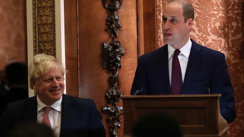 Príncipe William deixa mensagem de força a Boris Johnson