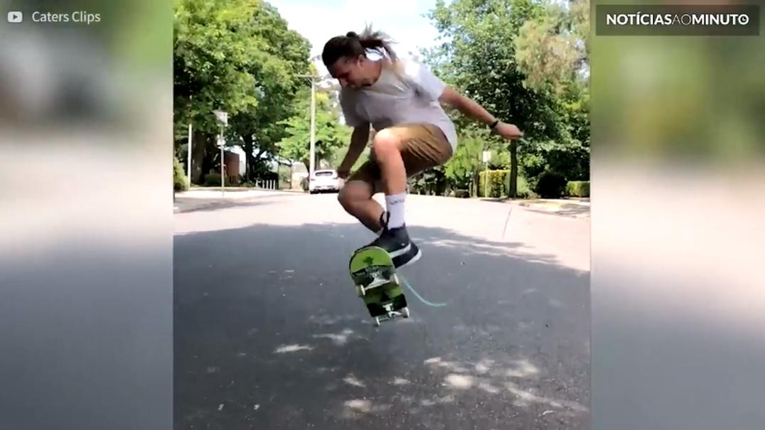 Como saltar à corda com um skate