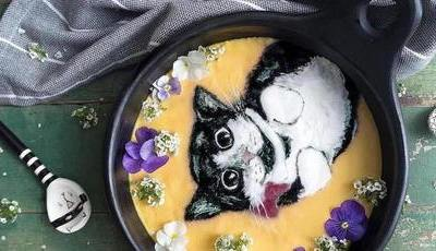 Para a malaia Hazel a taça de pequeno-almoço é uma tela para pintar