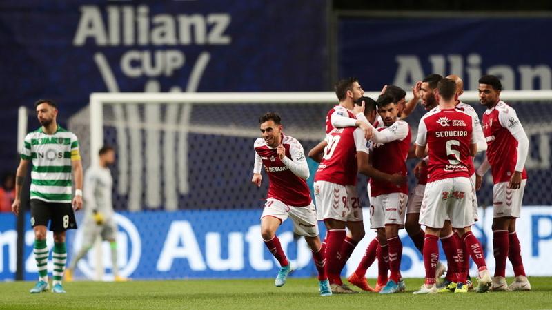SC Braga 1-1 Sporting: Intervalo em Braga, tudo em aberto para a segunda parte