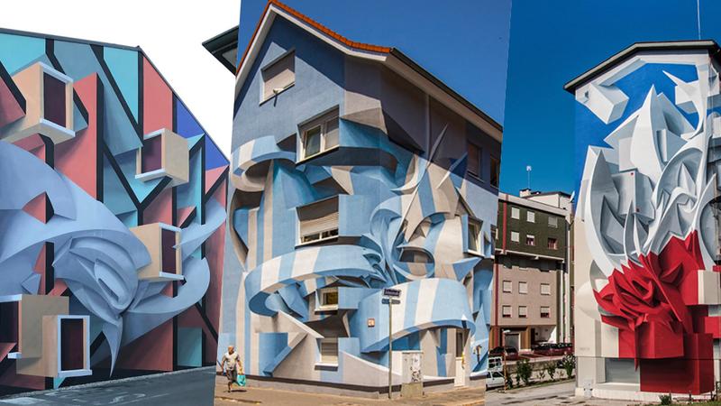 Artista italiano transforma edifícios em ilusões de ótica impressionantes