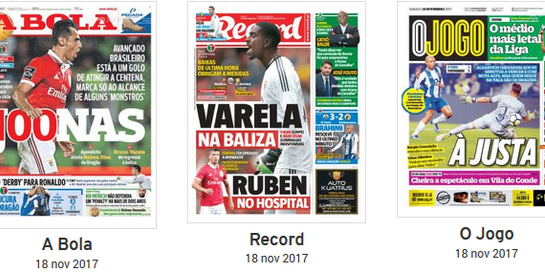 Revista de imprensa: Manchetes dividem-se entre jogos da Taça de Portugal