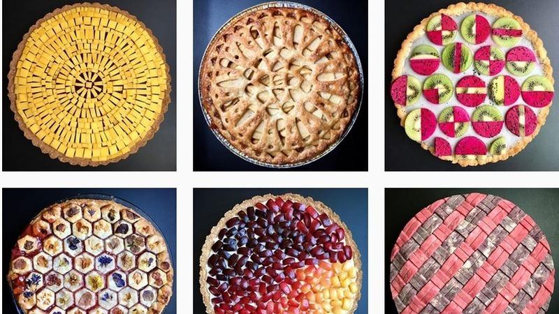 Doceira norte-americana produz tartes de geometria perfeita