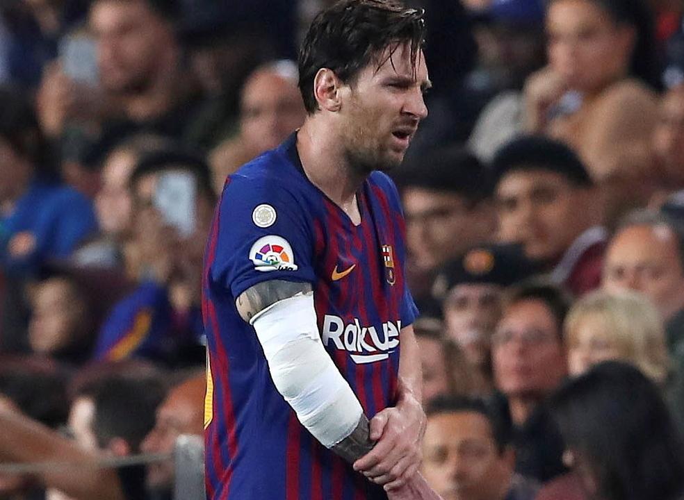 Messi sofre fratura no braço e falha o clássico com o Real Madrid