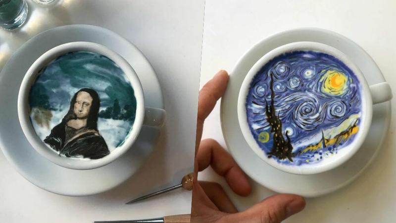Este barista sul-coreano transforma o café em verdadeiras obras de arte