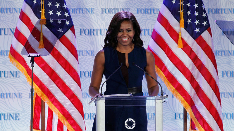 Se as eleições fossem hoje Michelle Obama dava uma tareia a Trump