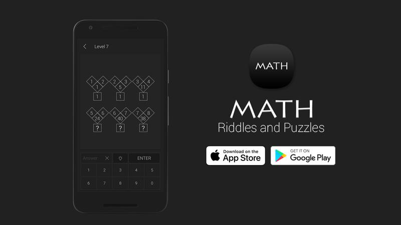 Math Riddles desafia-o a resolver enigmas e puzzles de matemática
