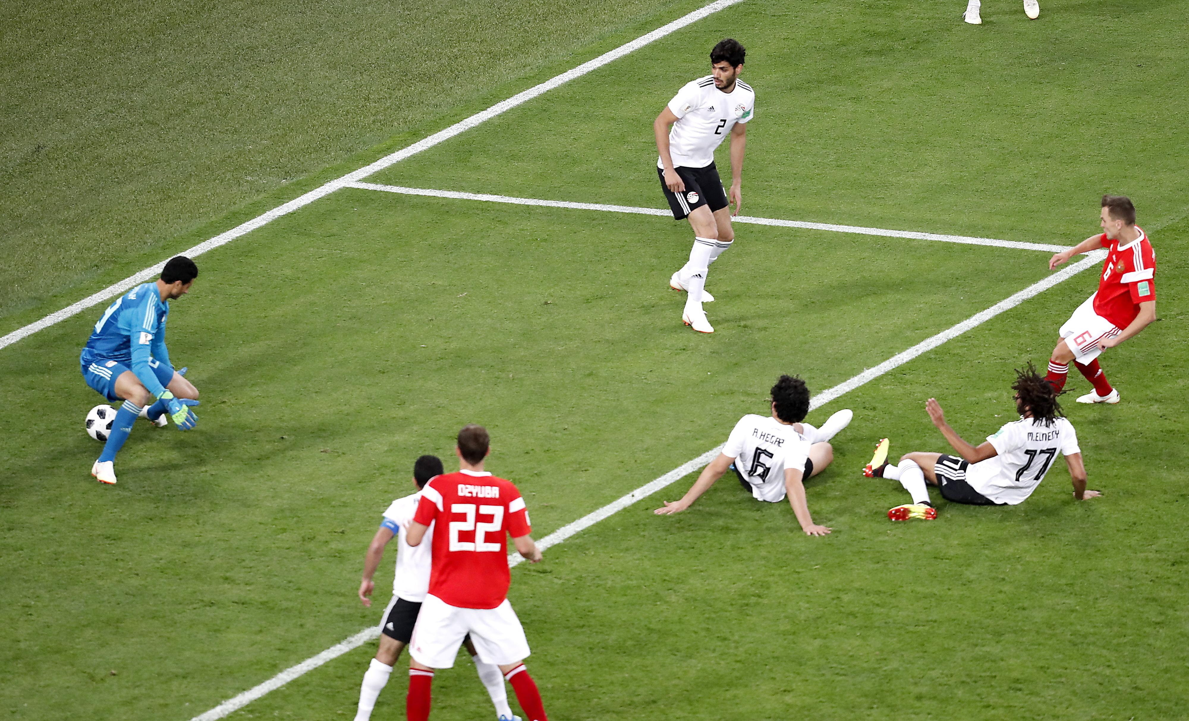 Salah marcou mas não chegou. Rússia bate Egito e tem um 'pé e meio' nos oitavos-de-final
